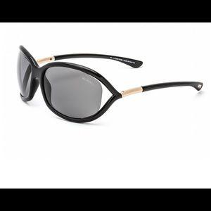 TOM FORD JENNIFER POLARIZED TF8 Sunglasses BLACK